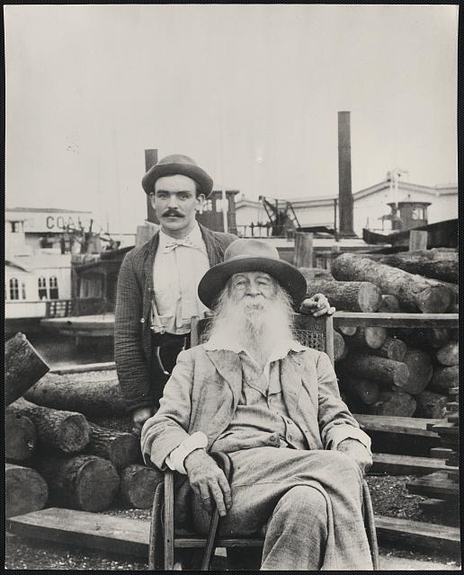 Walt Whitman at the Camden docks