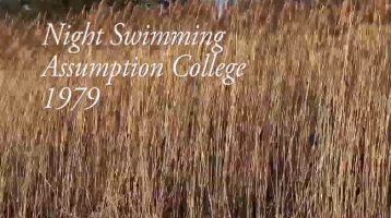 """Kevin Carey on """"Night Swimming – Assumption College – 1979"""""""