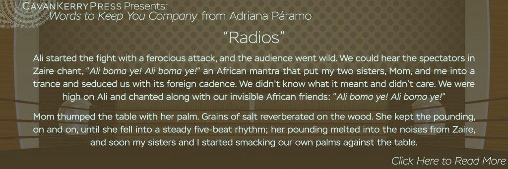 Radios, by Adriana Paramo