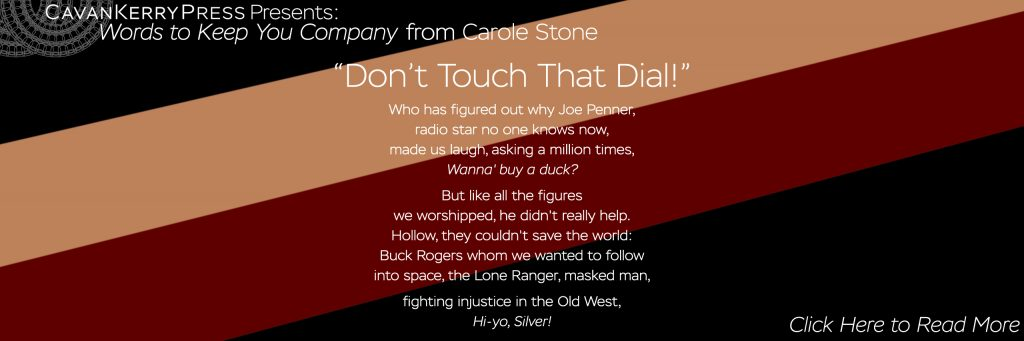 "A photo with text from ""Don't Touch That Dial!"" by Carole Stone"